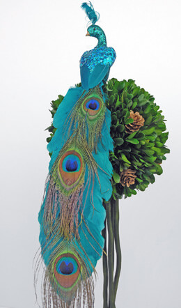 Artificial Peacock 15in