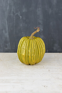 Artificial Pumpkin Green 6x5in