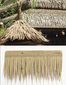 "Artificial Thatch for Tiki Bars Polyblend Panels 20"" long"
