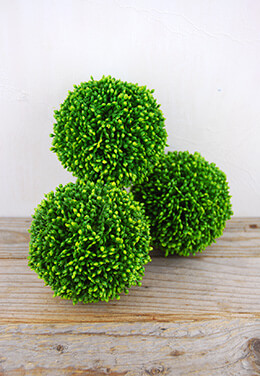 Artificial Topiary Balls 4in (Set of 3)
