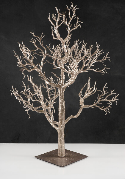 Artificial rose gold tree in