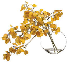 Aspen Leaf Spray in Vase
