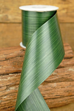 Aspidistra Ribbon Dark Forest Green 4in x 50yd