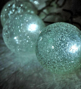 Solar String Lights Crackle Glass
