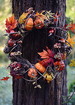 Autumn Wreath 22in