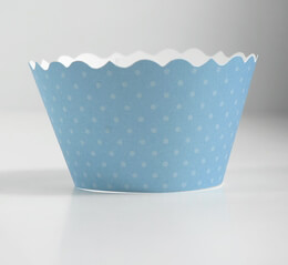 Sky Blue Cupcake Wrappers (Pack of 12)