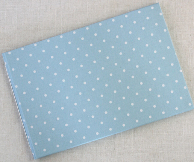 Baby Shower Guestbook Dottie Blue