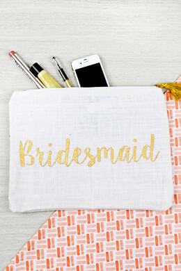 Mud Pie Bridesmaid Burlap Carry All