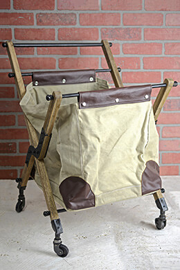 Rolling Vintage Canvas Mail Bag  28 x 21