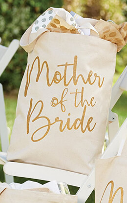 """Mother of the Bride Canvas Tote Bag  14"""""""