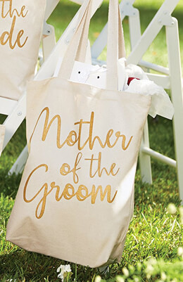"""Mother of the Groom Canvas Tote Bag 14"""""""