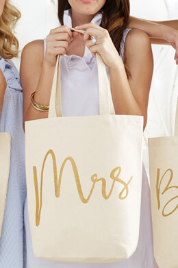 Mrs Canvas Tote 15x14