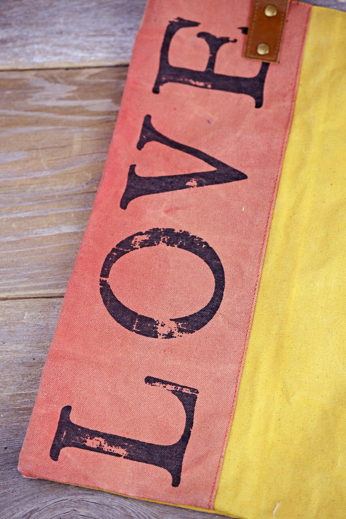 """Canvas """"LOVE"""" Tote"""
