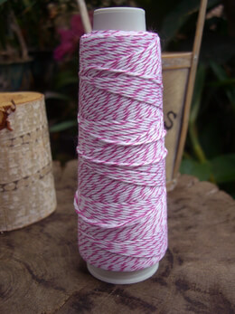 Bakers Twine Hot Pink & White 100 yds