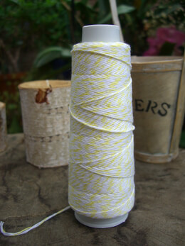 Bakers Twine Yellow & White 100 yards