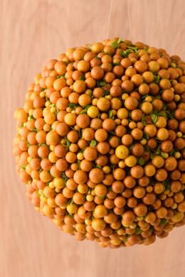 """Orange Deco Berry 6"""" Ball"""