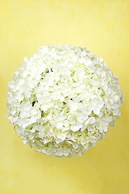 "12"" White Silk Hydrangea Balls, Hanging Decorations, Wedding Flowers"