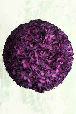 "14"" Burgundy Silk Hydrangea Balls, Hanging Decorations, Wedding Flowers"
