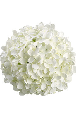 "6"" White Silk Hydrangea Balls, Hanging Decorations, Wedding Flowers"