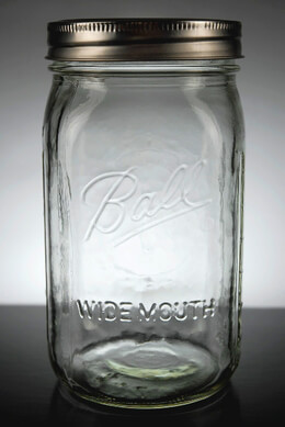 Wide Mouth Quart Size Mason Jars (Case of 12)