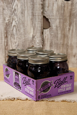 Ball Mason Jars Heritage Collection Purple Pint (Set of 6)