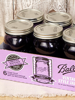 Ball Mason Jars Heritage Collection Purple Quart (Set of 6)