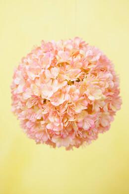 """Pink Blush Viburnum 4"""" Silk Flower Ball"""