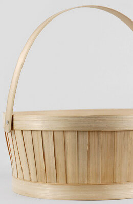 Round Bamboo Basket 10 Inch