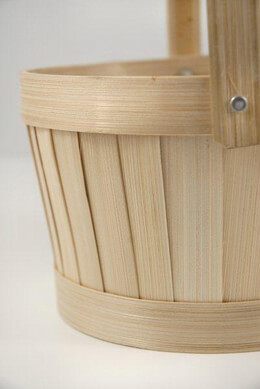 "Bamboo Basket 6.5"" with swivel handle"