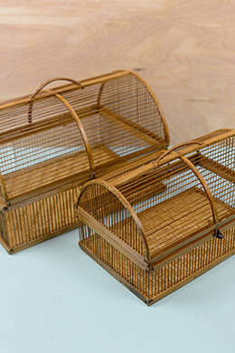 Bamboo Bird Cages (Set of 2)