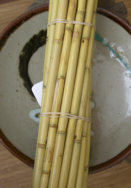 12 Bamboo Poles  24in Natural
