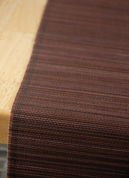Bamboo Table Runner Chocolate Brown 72in