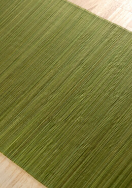 Bamboo Table Runner Olive Green 72in