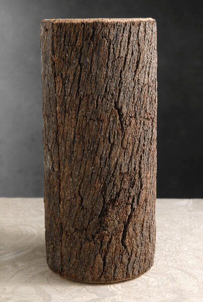 "Natural Bark Covered 12"" Cylinder Timber Vases"