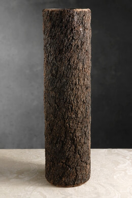 "Natural Bark Covered 20"" Cylinder Timber Vases"
