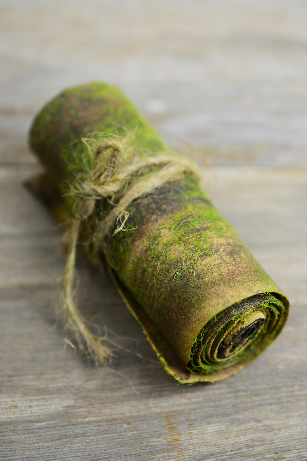 "Bark Wrap with Faux Moss   4"" x 24"""