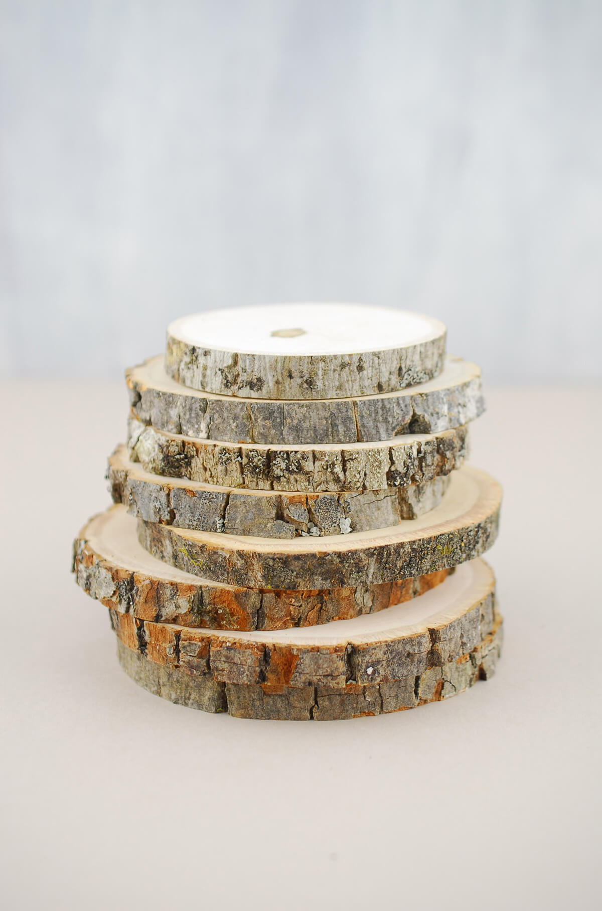 8 Natural Wood Rounds 3 5 4 5 In
