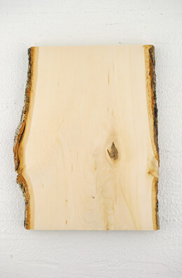 "Wood Plank 10"" X 8""  with Bark"