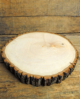 "Natural Wood Slice - Extra Large Round 11.5"" to 13.75"""