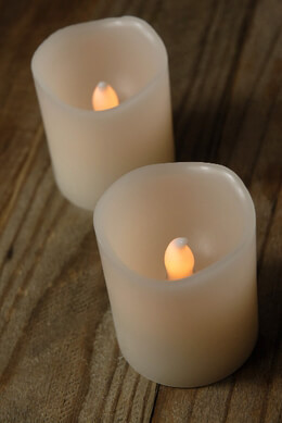 Battery Operated Candle LED in Cream White 2in (Set of 2)