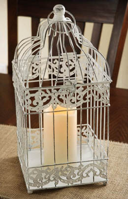 Bird Cage Candle Lantern Battery Operated
