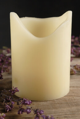 "Battery Operated 4"" Ivory Pillar Candles"