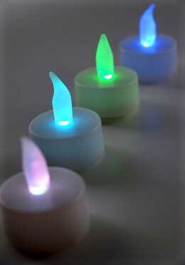 4 RGB Battery Operated Tealights