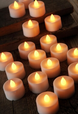 12 Battery Operated Tea lights LED