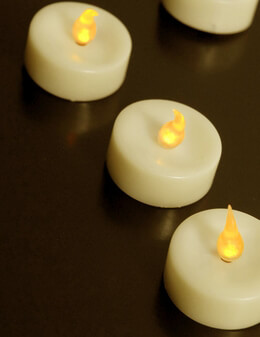 Battery Operated Tea lights LED Ivory (Pack of 48)