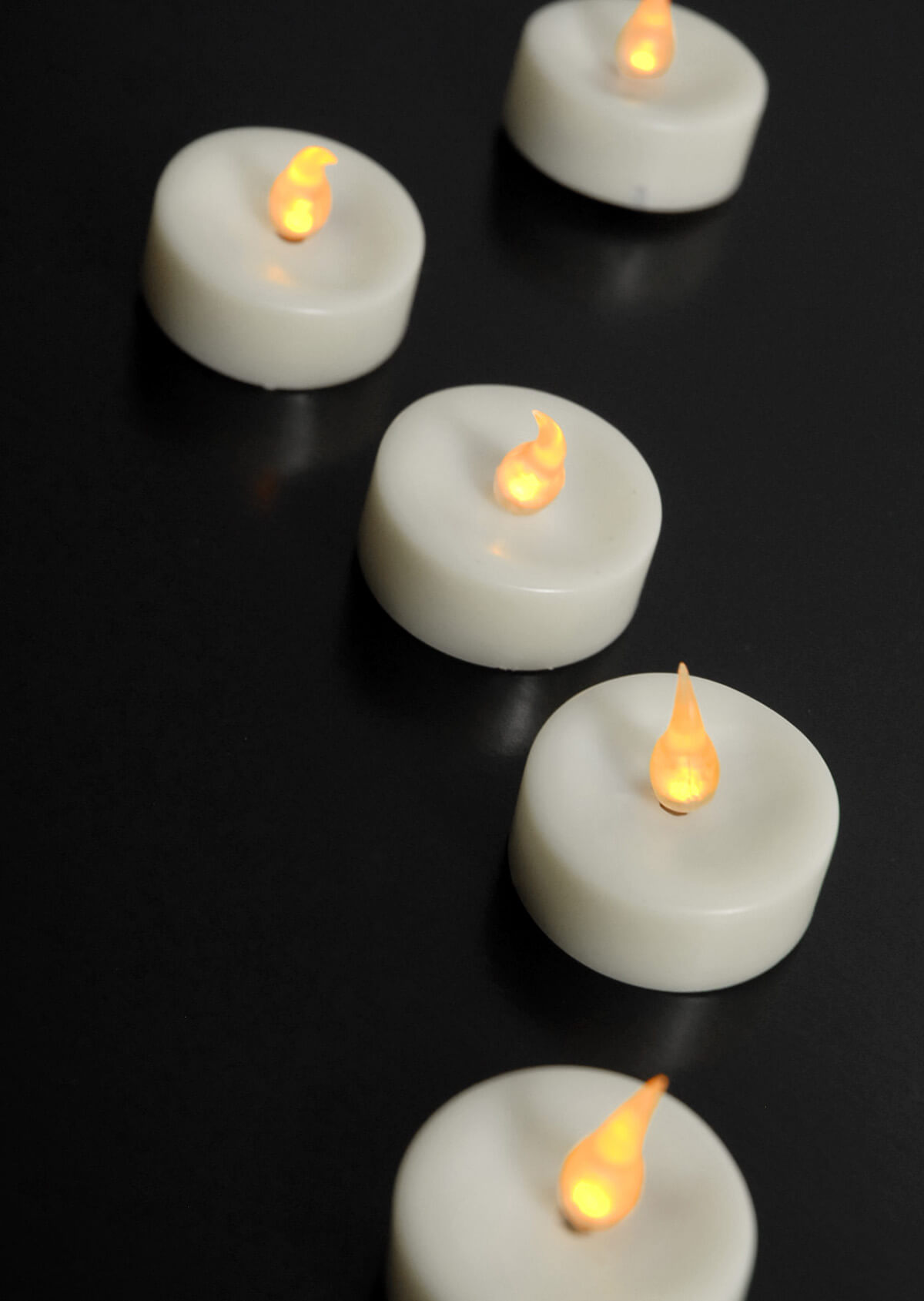 battery operated tea light candles led 48 candles. Black Bedroom Furniture Sets. Home Design Ideas