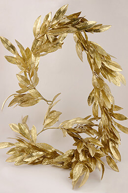 Bay Leaf Garland Gold 6ft