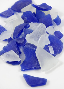 Sea Glass in Frosted Blue & White 3lb.