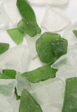 Sea Glass in Frosted Green & White 3lb.