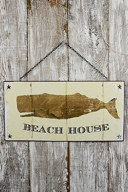 Beach House Sign 11x22in